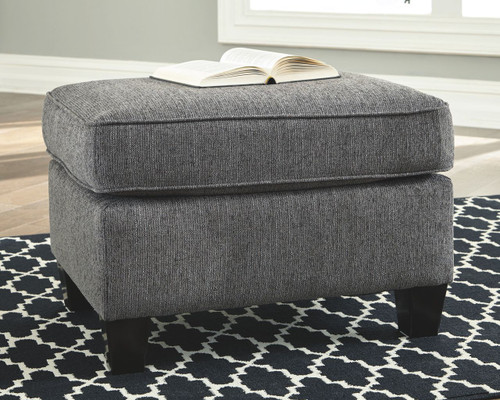 Ashley Agleno Charcoal Ottoman