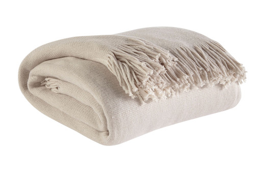 Ashley Haiden Ivory/Taupe Throw(3/CS)