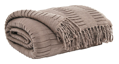 Ashley Mendez Taupe Throw(3/CS)