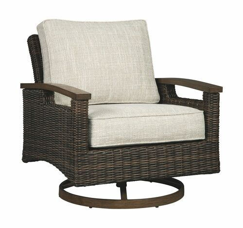 Ashley Paradise Trail Medium Brown Swivel Lounge Chair (2/CN)