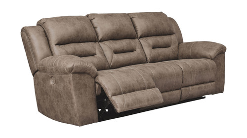 Ashley Stoneland Fossil Reclining Power Sofa/Couch