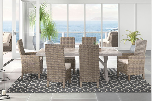 Ashley Beachcroft Beige Dining Set with Chairs