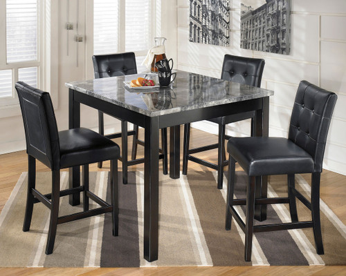 Ashley Maysville Black Square Counter Table Set