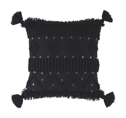 Ashley Mordechai Black Pillow(4/CS)