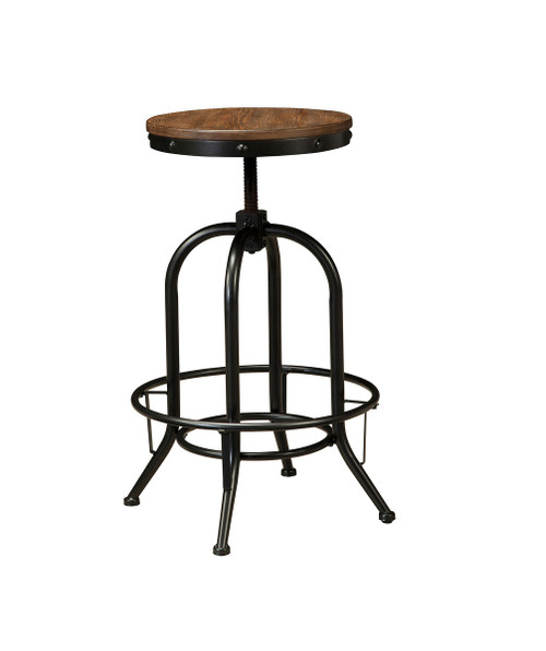Ashley Pinnadel Grayish Brown Tall Swivel Stool