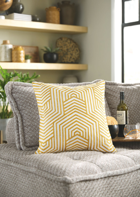 Ashley Adrik Golden Yellow Pillow (4/CS)