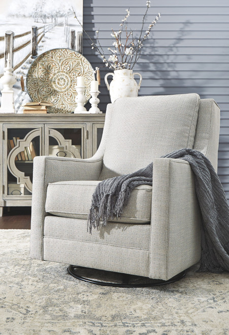 Ashley Kambria Frost Swivel Glider Accent Chair