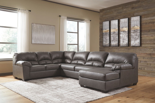 Ashley Aberton Gray 3-Piece Sectional with Chaise