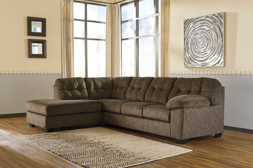 Ashley Accrington Earth 2 Piece Sectional with Chaise