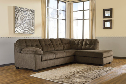 Ashley Accrington Earth 2-Piece Sectional with Chaise