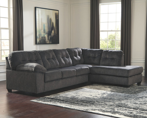 Ashley Accrington Granite 2-Piece Sectional with Chaise