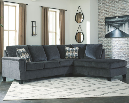 Ashley Abinger Smoke LAF Sofa & RAF Corner Chaise Sectional
