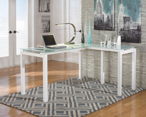 Ashley Baraga White Desk