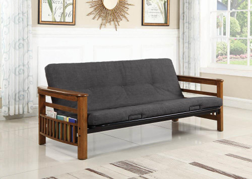 Coaster Living Room : Futon Frames - Futon Frame With Magazine Racks Warm Brown - 4075
