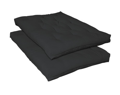 "Coaster Futon Mattresses - Black - 7.5"" Deluxe Innerspring Futon Pad Black - 2005IS"