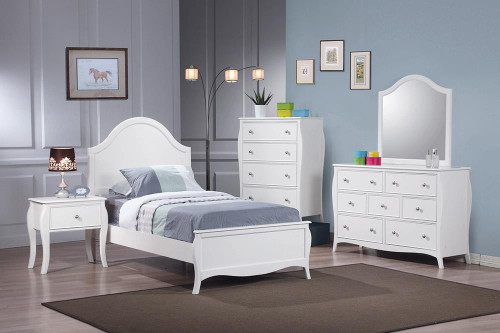 Coaster Dominique French Country White Twin Four-piece Set - 400561T-S4