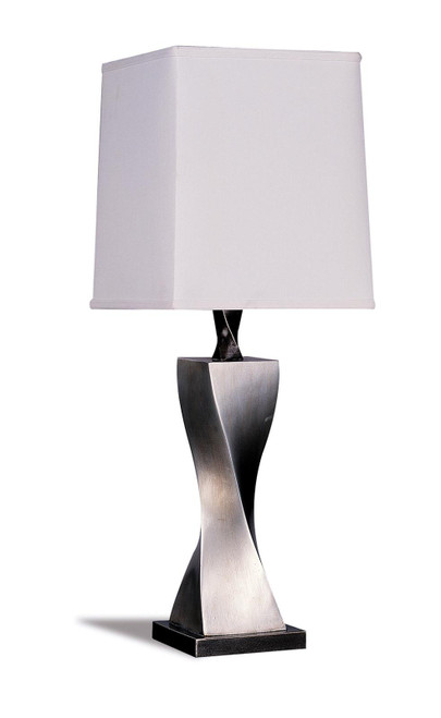 Coaster White - Accent Contemporary Antique Silver Table Lamp (Set of 2) - 1497