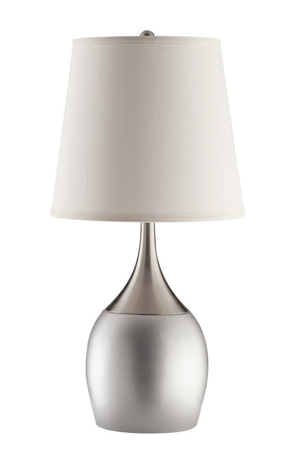 Coaster White - Empire Shade Table Lamps Silver And Chrome (Set of 2) - 901471
