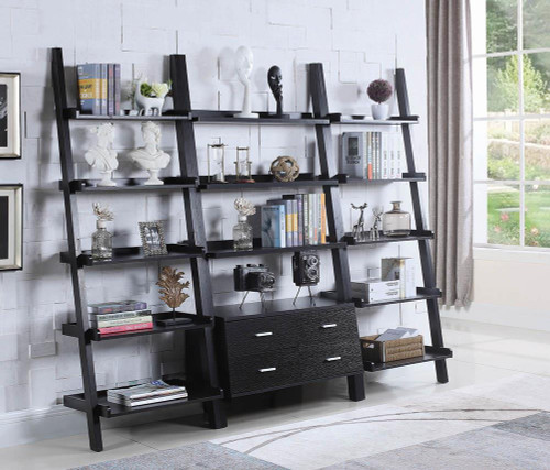 Coaster Colella Collection - Bower 5-shelf Ladder Bookcase Cappuccino - 800338