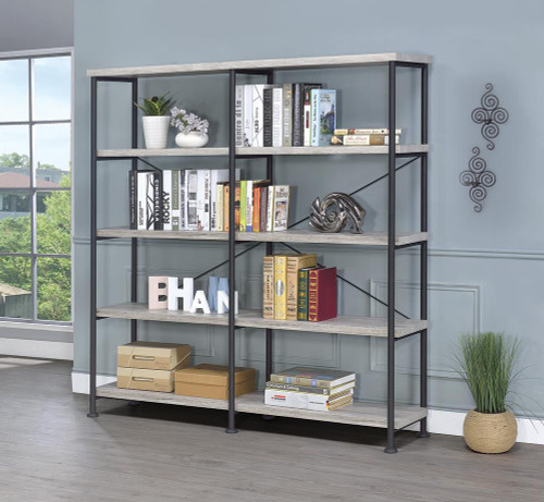 Coaster Analiese Collection - Analiese 4-shelf Open Bookcase Grey Driftwood - 801544
