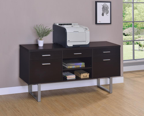 Coaster Glavan Collection - Glavan 5-drawer Credenza With Adjustable Shelf Cappuccino - 801522