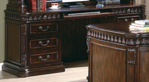Coaster Tucker Collection - Tucker 6-drawers Credenza Desk Rich Brown - 800801B