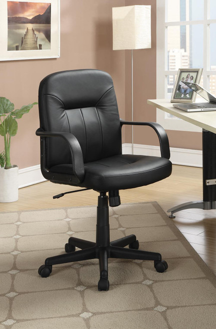 Coaster Home Office : Chairs - Black - Adjustable Height Office Chair Black - 800049