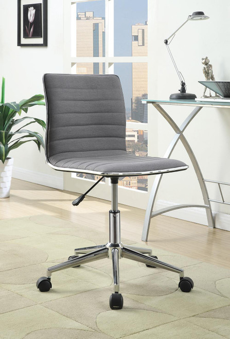 Coaster Home Office : Chairs - Grey - Adjustable Height Office Chair Grey And Chrome - 800727