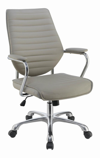 Coaster Taupe - High Back Office Chair Taupe And Chrome - 802270