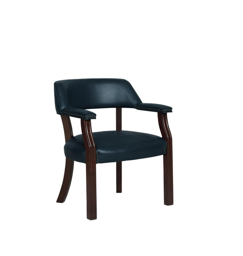 Coaster Home Office : Chairs - Blue - Upholstered Office Chair With Nailhead Trim Blue - 511N