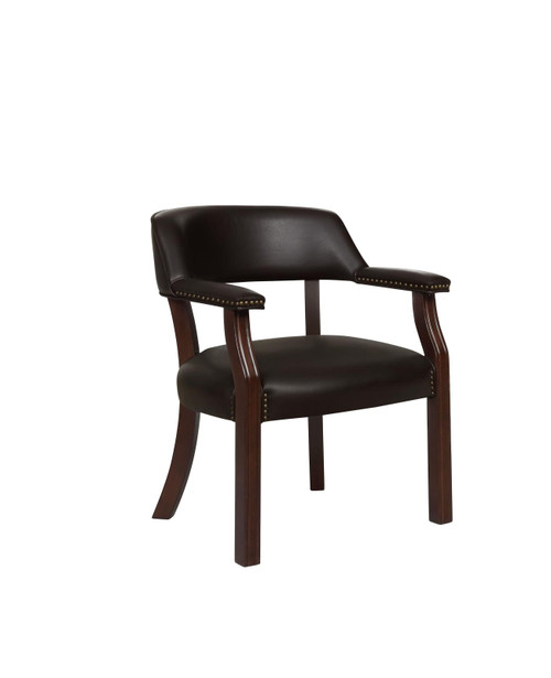 Coaster Home Office : Chairs - Brown - Upholstered Office Chair With Nailhead Trim Brown - 513BRN