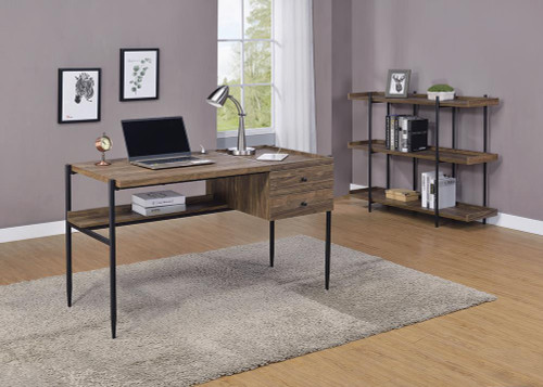 Coaster Lawtey Collection - Lawtey 2-drawer Writing Desk With Outlet Aged Walnut - 804291