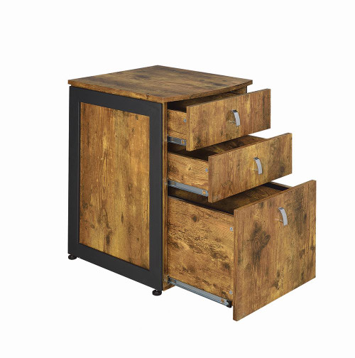 Coaster Estrella Collection - Estrella 3-drawer File Cabinet Antique Nutmeg And Gunmetal - 800656