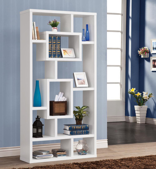 Coaster Home Office : Bookcases - 10-shelf Bookcase White - 800157