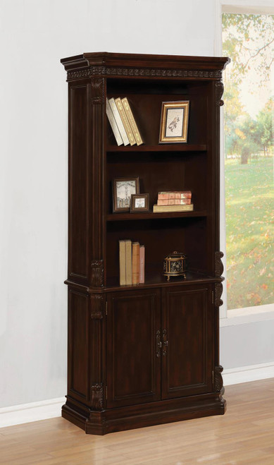 Coaster Tucker Collection - 3-tier Bookcase With Storage Base Rich Brown - 800803