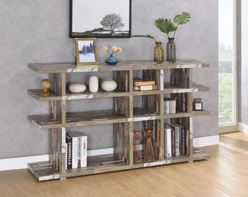 Coaster Home Office : Bookcases - 3-tier Open Bookcase Salvaged Cabin - 800848