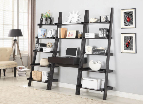 Coaster Colella Collection - Colella 2-shelf Writing Ladder Desk Cappuccino - 801373