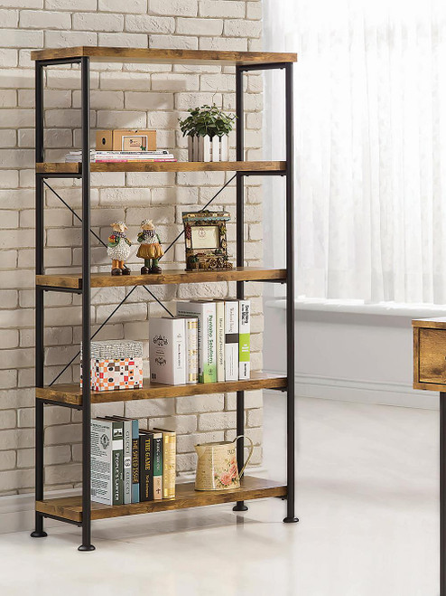 Coaster Analiese Collection - Analiese 4-shelf Bookcase Antique Nutmeg - 801542