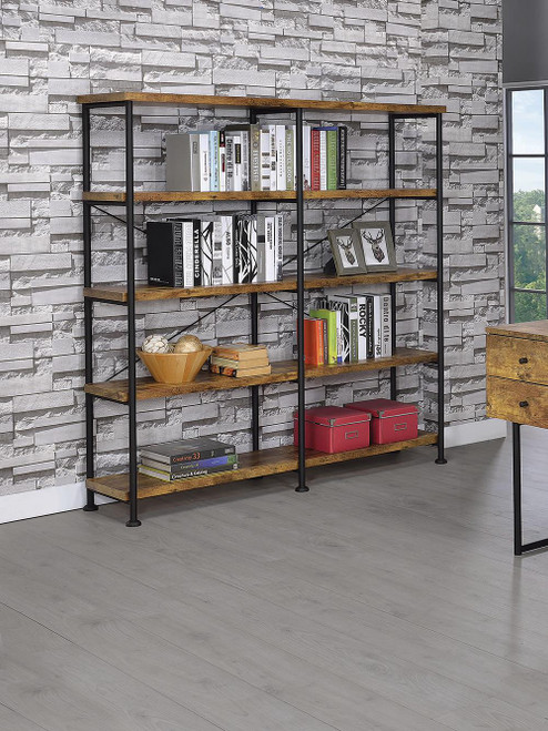 Coaster Analiese Collection - Analiese 4-shelf Open Bookcase Antique Nutmeg - 801543