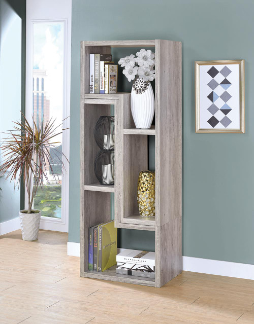Coaster Home Office : Bookcases - Convertable Bookcase And Tv Console Grey Driftwood - 802330