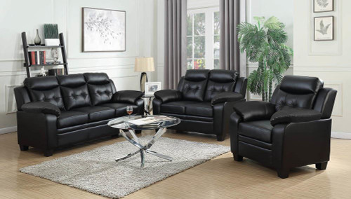 Coaster Black - Finley Tufted Upholstered Chair Black - 506553