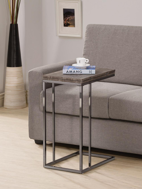 Coaster Expandable Top Accent Table Weathered Grey And Black - 902864