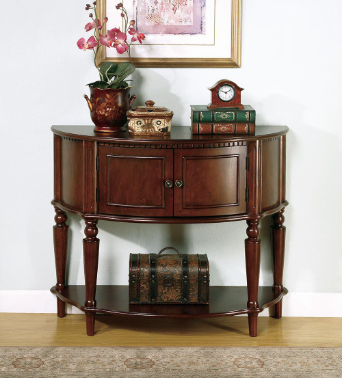Coaster Console Table With Curved Front Brown - 950059