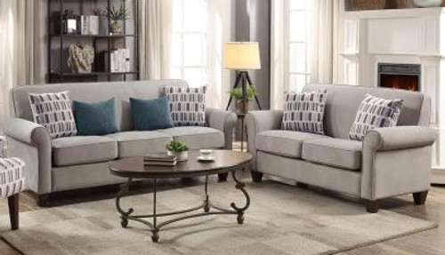 Coaster Gideon Transitional Cement Two-piece Living Room Set - 506401-S2
