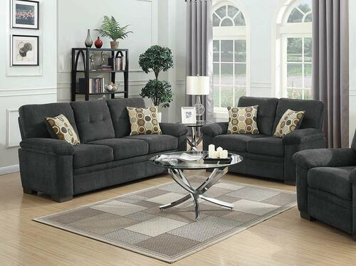 Coaster Fairbairn Casual Charcoal Two-piece Living Room Set - 506584-S2