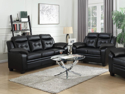 Coaster Finley Casual Brown Two-piece Living Room Set - 506551-S2