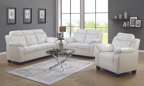 Coaster Finley Casual White Two-piece Living Room Set - 506554-S2