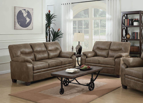 Coaster Meagan Casual Brown Two-piece Living Room Set - 506561-S2