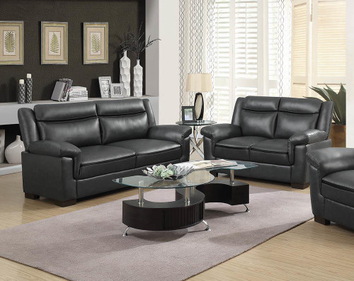 Coaster Arabella Brown Faux Leather Two-piece Living Room Set - 506591-S2