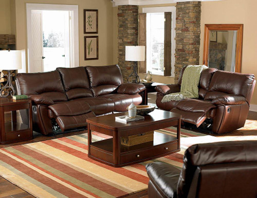 Coaster Clifford Motion Collection - Chocolate - Clifford Motion Dark Brown Reclining Three-piece Living Room Set - 600281-S3